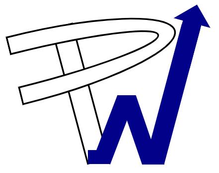 performances web icone blanc et bleu foncé
