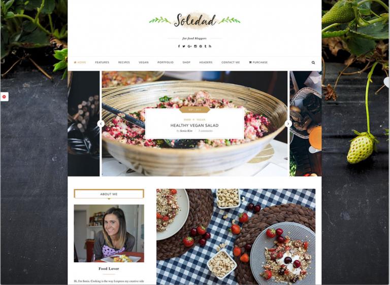 thème wp blog cuisine